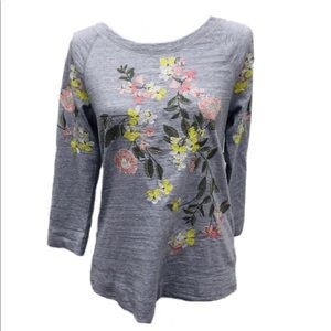Loft embroidered floral top